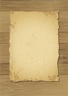 matériel en bois avec le vecteur de vieux papiers