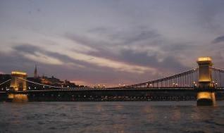 Chainbridge à Budapest, Hongrie
