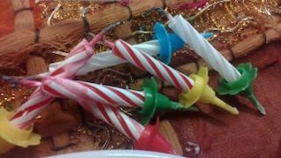 cire des bougies de Noël