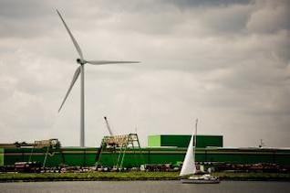 moulin à vent et de l'usine
