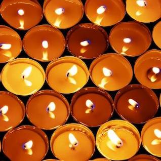 fond bougies