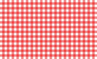 rouge et le motif nappe blanche