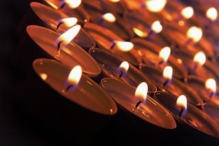 Plan rapproché des bougies