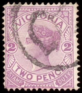 violette queen victoria timbre