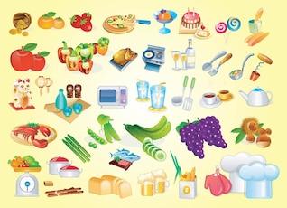 graphiques vectoriels de cuisine
