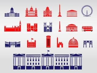Buckingham Palace Londres monuments vecteur