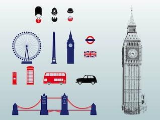 Emballent Londre Angleterre vecteurs d'architecture