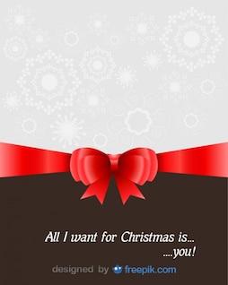 Carte de voeux de Noël avec un dévouement