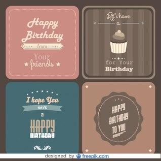 Heureux paquet de carte postale d'anniversaire