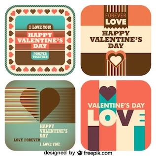 Jour rétro amour de valentine