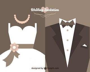 Conception de vecteur d'invitation de mariage de cru