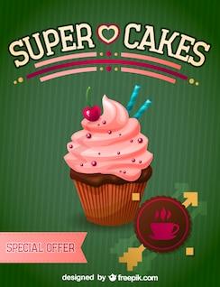 Petit gâteau illustration libre