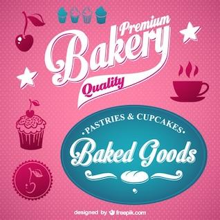 Vecteur de boulangerie graphiques