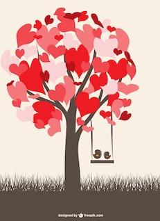 Oiseaux d'amour graphique gratuit