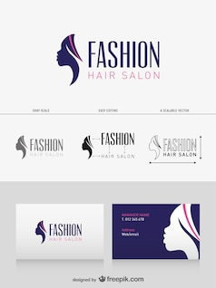 Salon de coiffure carte de visite