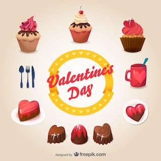Les desserts du jour de valentine