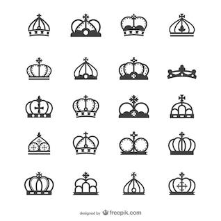 européenne silhouette vecteur couronne