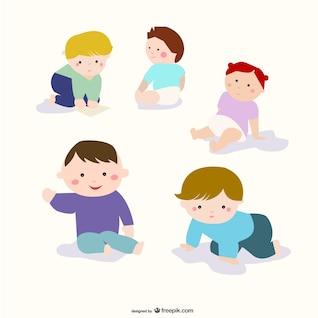 dessin animé des enfants vecteur