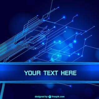 Fond bleu abstrait de technologie