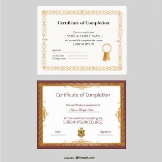 belle certificat modèles vecteur