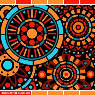 Modèle de mosaïque florale