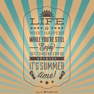 Affiche de l'été inspiré cru