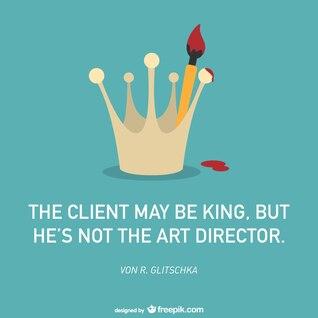 Affiche vecteur de client de l'art