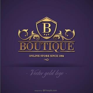 Boutique d'or de conception de logo
