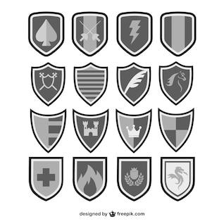 Vecteur protège ensemble noir et blanc