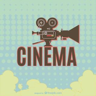 Conception cinéma rétro de la caméra classique