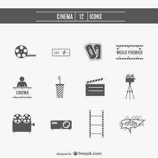 Cinéma films icônes ensemble
