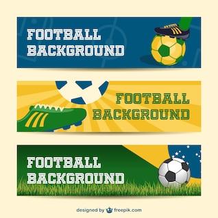 Brésil bannières vecteur collecte d'événements de football 2014