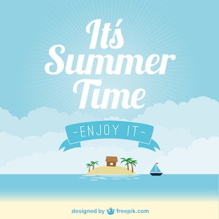 Vecteur de plage d'été