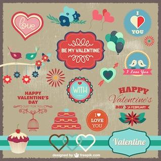 éléments graphiques amour de célébration