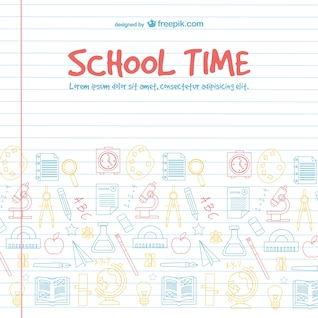 Conception de vecteur de temps scolaire