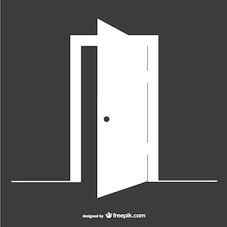 Porte ouverte template vecteur
