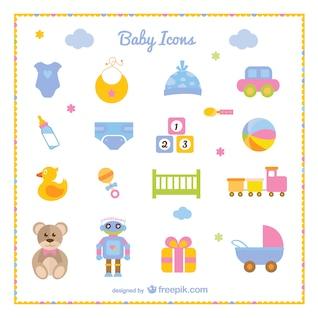 Ensemble de bébé d'icônes