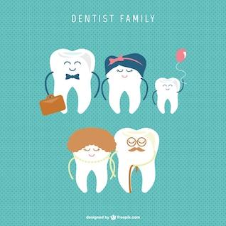 Vecteur de la famille dentaire
