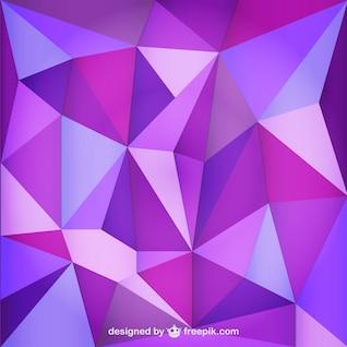 Triangle fond violet