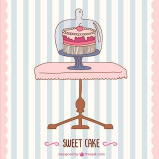B-day vecteur de gâteau rétro carte