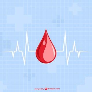 Modèle de vecteur d'une goutte de sang