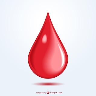 Vecteur d'une goutte de sang art