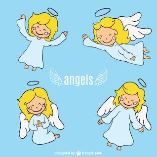 Conception de personnage de bande dessinée d'ange