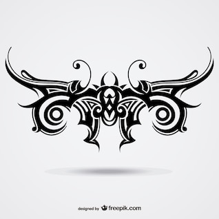 Papillon tribal vecteur tatouage