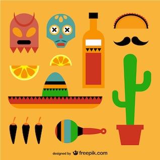 éléments mexicains emballer