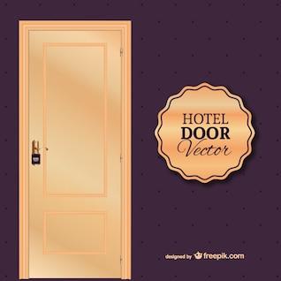Vecteur de la porte de l'hôtel