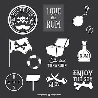 Collection d'icônes de pirates