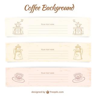 Modèles café de bannière