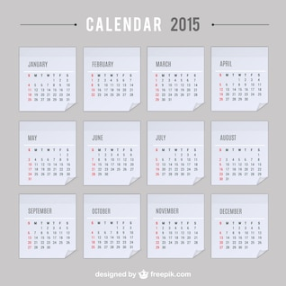 2015 calendrier vecteur