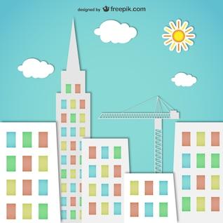Silhouettes colorées de la ville